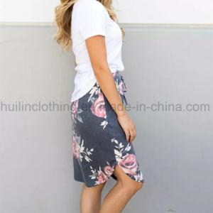 Comercio al por mayor vestido floral de la banda de mujeres faldas cortas
