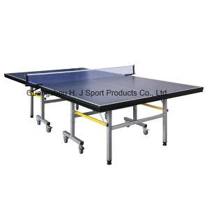 표준 크기 두 배 접의자 테니스 테이블