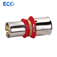 Straight d'ottone Double Coupling per Pex-Al-Pex Pipe