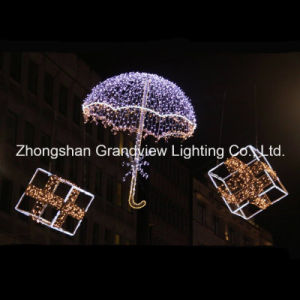 Luz LED 3D de la decoración de boda paraguas