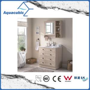 Furnierholz-Eitelkeit mit künstlicher Marmoroberseite und keramischem Bassin (ACF8904)
