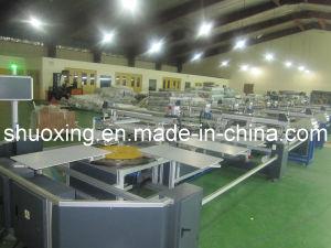 Stampatrice automatica ovale dello schermo della tessile, stampante automatica dello schermo della maglietta