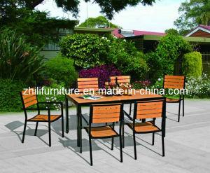 Mobilia di legno del patio, insieme di legno esterno, sedia di legno di alluminio (WM-28)