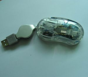 Mini souris optique, transparent de la souris (M501)
