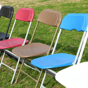 Party를 위한 강철 Frame Poly Folding Chairs