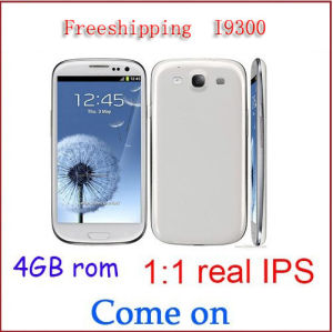 Real IPS Screen 1: 1 I9300 S3 Phone Cortex-A9 1.4GHz 4.8 Inch IPS Screen 8MP Dual Camera WiFi GPS Cellphone