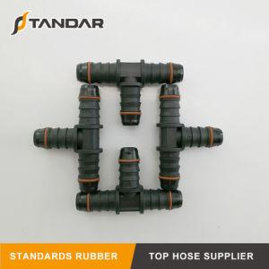Racor para tubo flexible hidráulico de presión de la manguera de combustible de caucho