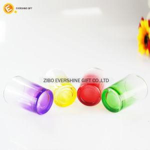 tazza inferiore colorata rotonda surdimensionata di vetro di colpo 100ml