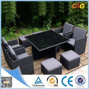 9 PCE, обеденный стол со стульями плетеной мебелью из ротанга для отдыха на открытом воздухе в саду
