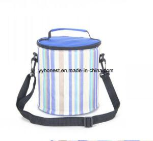 Strip Fashion Design coloré ronde déjeuner sac du refroidisseur