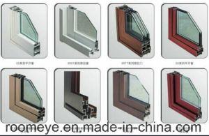 이중 유리로 끼워진 고품질 열 틈 방수 방음 알루미늄 여닫이 창 유리창 (ACW-066)