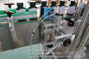 Автоматическая квадратные бутылки наклейки этикеток оберните вокруг машины