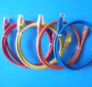 Cobre CAT6 Cabo de rede de fibra óptica patch cord cabo LAN