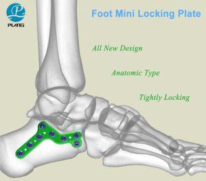 Ortopedia Calcaneo pie mini placa de bloqueo