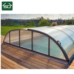 Boven Dekking van de Pool van de Grond de Duidelijke Zonne met het Ontwerp van het Frame van het Aluminium