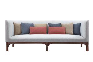 Европейский современной классики серая ткань диван (MS1602)