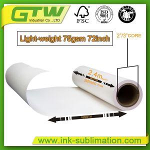 75GSM Сублимация бумага для печати с высокой скоростью передачи данных