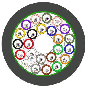 12 núcleos metálicos entrançados Piscina Cabo de fibra ótica