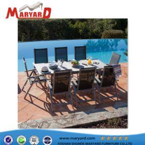 Sofás de jardín baratos de aluminio exterior Silla de Comedor juego de mesa y silla