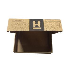 يغضّن صندوق من الورق المقوّى لأنّ بالتفصيل