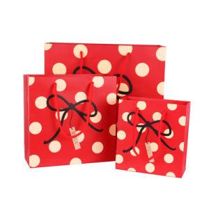 Logo de conception OEM pour accepter des cadeaux de Noël Art Sac papier (YH-PGB058)