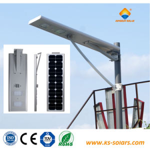 25W en alliage aluminium LED de la rue lumière solaire intégré avec RoHS PSE TUV
