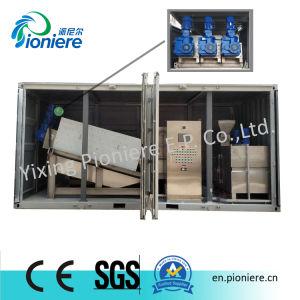 Sistema d'asciugamento del fango mobile del contenitore per acqua di scarico comunale