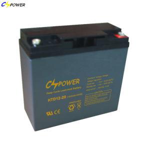 手入れ不要の鉛の酸VRLAの深いサイクルAGM 12V 20ah UPS電池