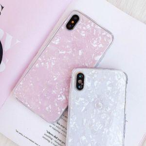 The Seashell Cristal Design ultra fino à prova de casos de Telefone para iPhone x