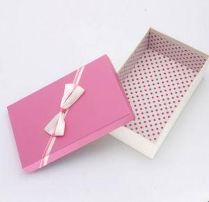 Bon marché de gros de bijoux personnalisés Recyclable papier carton boîte cadeau