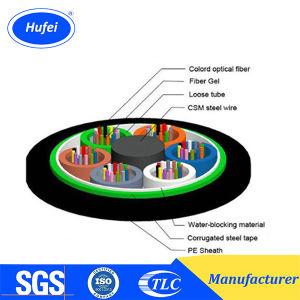 Outdoor Ruban d'acier blindés enquête GYTS Câble à fibre optique