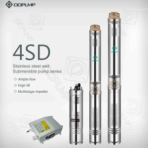 Un grand débit bien profonde en acier inoxydable pompe submersible. La pompe à eau