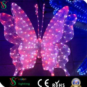 LED de alta calidad 2D de Navidad decoración luz de la luz de la escultura de la mariposa