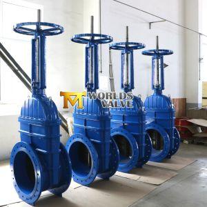 Ferro dúctil a protecção de borracha da válvula de gaveta com a engrenagem cônica Wras aprovado para a Água Potável