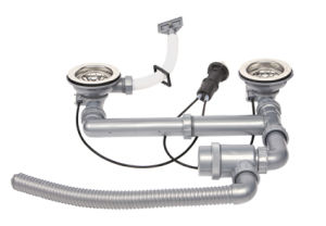 Double vasque drainer unique droit et gauche pour évier de cuisine en acier inoxydable