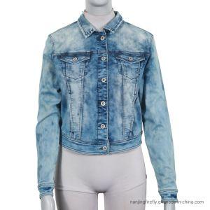 Fashion Stretch Denim Jeans Vestes de femmes (F037)