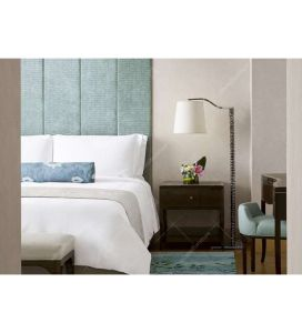 Cama de Casal em madeira moderno conjunto de móveis móveis de quarto de hotel de Carvalho (DL 07)