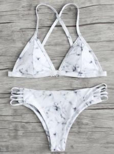Bikini-gesetzte Dame Bikini Swimwear der Dame-Fashion Sexy Marble Pattern