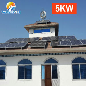 5000W 태양 에너지 시스템 5kw 에너지 340W는 MPPT 관제사를 깐다
