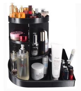 Rotation de 360° Disassembleable cosmétiques Boîte de rangement, organisateur de maquillage