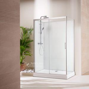 Cabina de Duche/ Chuveiro Enclosure/ porta deslizante de vidro para banheiro: cabine de duche Retângulo como2812D-100T