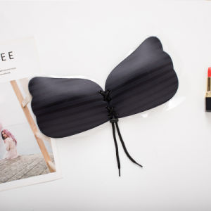 고품질 정면 마감 브래지어 섹시한 보이지 않는 Breathable 끈이 없는 자동 접착 실리콘 브래지어