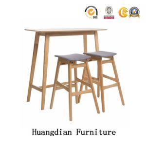 Tabella all'ingrosso e feci della barra dei piedini di legno solido della mobilia del randello impostate (HD718)
