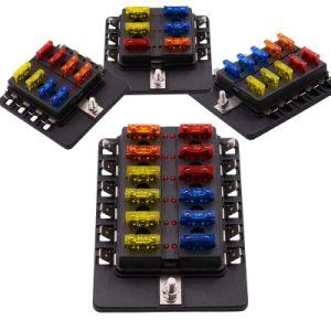 12V 24V車のヒューズボックスブロックのホールダー6の方法8つの方法10の方法12の方法