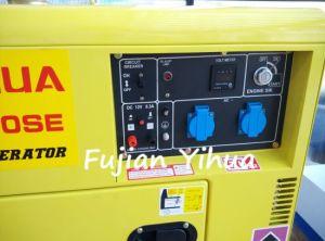 5kVA 6 kVA 5 kw Utilisation domestique refroidi par air petit générateur diesel avec moteur 186F