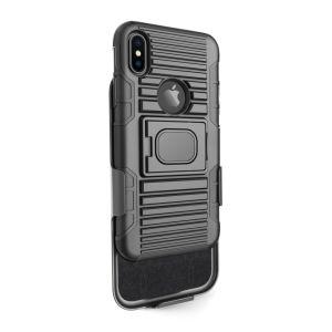 이중 층 벨트 클립 어려운 기갑 상자 최대 iPhone Xs/Xr/Xs를 위한 방어적인 전화 상자