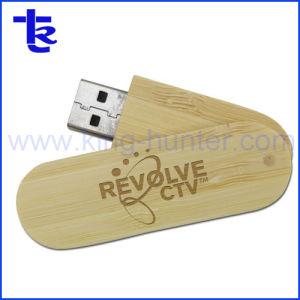 昇進のギフトのための木USBのフラッシュ駆動機構の旋回装置のカスタムロゴ
