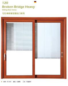 De poeder Met een laag bedekte Houten Schuifdeur van het Aluminium van de Kleur met het Ontwerp van de Grill van het Aluminium