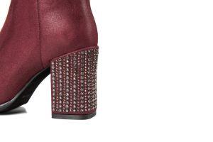女性のための方法デザイン側面のラインストーンの膝最高ブート