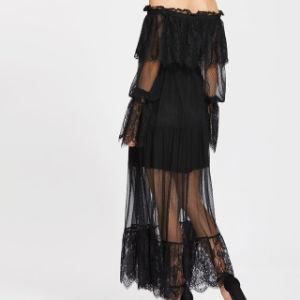 デザインレディースセクシーで黒いレースの服をカスタマイズしなさい